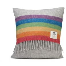 McNutt of Donegal Rainbow Cushion