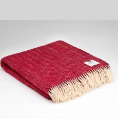 McNutt of Donegal Mushroom Wool Throw