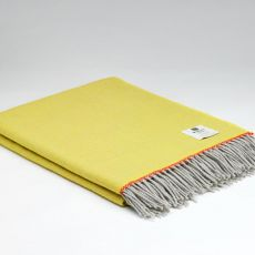 McNutt of Donegal Wool Throw Maggie Yellow Super Soft
