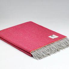 McNutt of Donegal Wool Throw Rosie Fuschia Super Soft