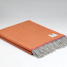 McNutt of Donegal Wool Throw Cassie Orange Super Soft
