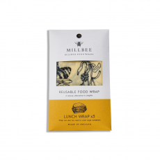 Millbee Beeswax Food Lunch Wrap 3 pack