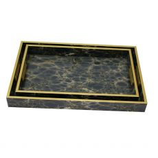 Mindy Brownes Deep Blue Set of 2 Serving Trays