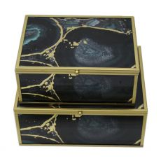 Mindy Brownes Midnight Glory Set of 2 Accessory Boxes