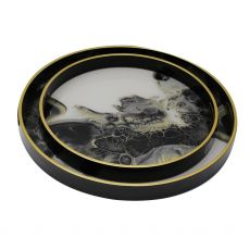 Mindy Brownes Sunrise Set of 2 Serving Trays