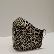 Montgomery Grey Animal Print Face Covering