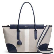 Radley Morris Road Large Zip-Top Shoulder Bag Natural