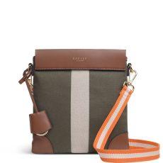 Radley Morris Road Medium Zip-Top Cross Body Bag Khaki