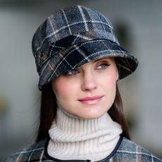 Mucros Weavers Black/Camel Flapper Hat