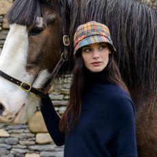 Mucros Weavers Multi Plaid Flapper Hat