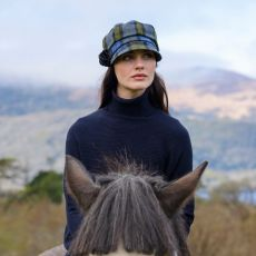 Mucros Weavers Newsboy Ladies Check Hat