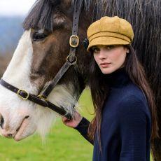 Mucros Weavers Newsboy Ladies Golden Hat