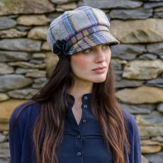 Mucros Weavers Newsboy Ladies Plaid Hat