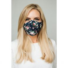 Navy Floral Cloth Face Mask