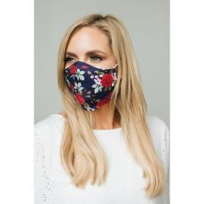 Navy Roses Cloth Face Mask