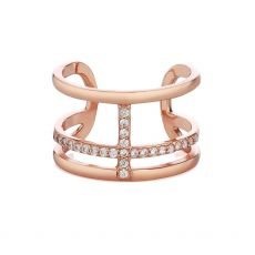Newbridge Rose Gold Ring Clear Stones