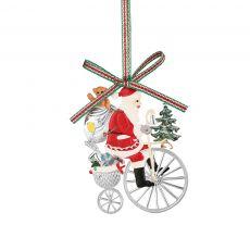 Newbridge Santa on Bicycle Decoration