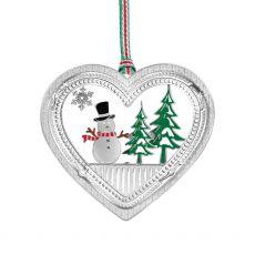 Newbridge Snowman in Heart Hanging Decoration