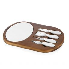 Newbridge Ceramic & Wood Cheese Board Set