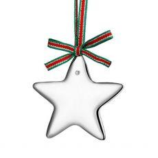 Newbridge Silver Plated Star with Crystal Stone