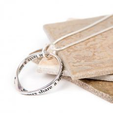 Lovethelinks Sisters Bond Necklace Silver