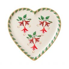 Nicholas Mosse Fuchsia Heart Plate
