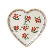 Nicholas Mosse Heart Plate Old Rose