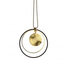 Scribble & Stone Long Discs Pendant