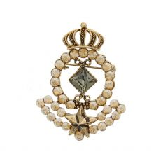 Nour Crown Medallion Brooch