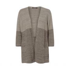 Olsen Grey & Khaki Knit Cardigan