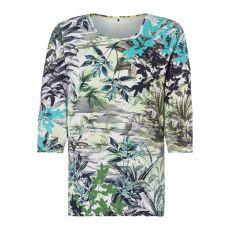 Olsen Hannah Leaf Print T-Shirt