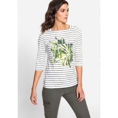 Olsen Hannah Striped Print T-Shirt Model