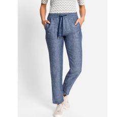 Olsen Linen Denim Draw String Trousers model