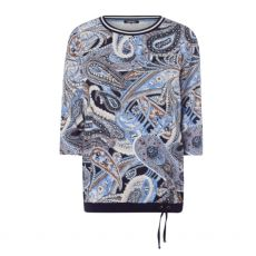 Olsen Clara Paisley Long Sleeve T-Shirt