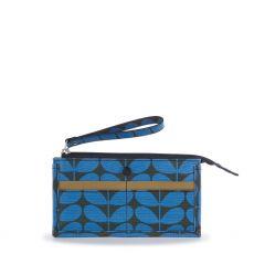 Orla Kiely Blue Azure Holden Wallet front