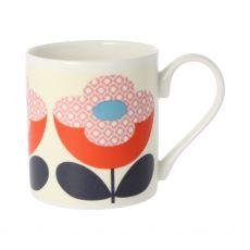 Orla Kiely Buttercup Stem Red/Pink Mug