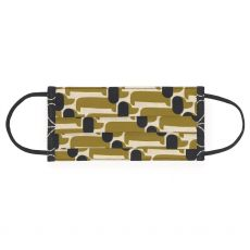 Orla Kiely Dachshund  Olive Face Covering