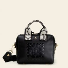 Orla Kiely Irish Black Leather Handbag