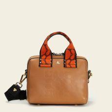 Orla Kiely Iris Tan Leather Handbag