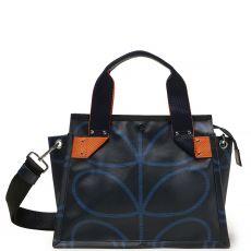 Orla Kiely Landor Shoulder Bag - Linear Stem Indigo