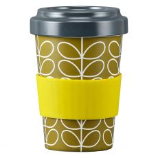 Orla Kiely Linear Stem Dark Moss Bamboo Travel Cup