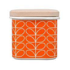 Orla Kiely Linear Stem Persimmon Storage Jar