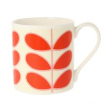 Orla Kiely Linear Stem Red Mug
