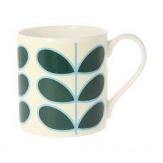 Orla Kiely Linear Stem Teal Mug