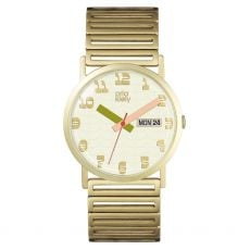 Orla Kiely Madison Ladies Pale Gold Stainless Steel Bracelet Two Tone Hands Watch