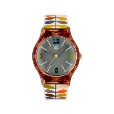 Orla Kiely Multi Stem Print Tortoiseshell Watch