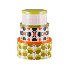 Orla Kiely Set of 3 Nesting Cake Tins