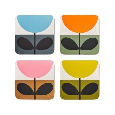 Orla Kiely Set of 4 Sunflower Coasters