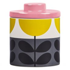 Orla Kiely Sunflower Ochre Storage Jar