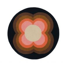 Orla Kiely Sunflower Pink Round Rug 150 cm